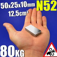 Wholesale Ture N52 Block x25x10mm Real Size Rare Earth magnets Neodymium Magnet Super Strong