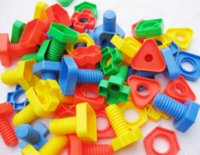 Wholesale 1 years old baby toys screw building kits plastic nut assembling combination kid early development educational toy