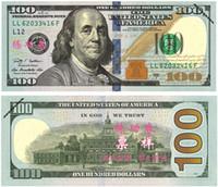al por mayor regalos personales-100PCS USA Dollars New $ 100 Aprender Billetes Banco Personal Capacitación Películas Props Dinero Boda Decoración Hogar Decoración Arte Coleccionable Regalos