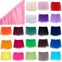 Wholesale One cm x cm Tulle Tutu Table Skirt Tableware for Wedding Table Skirts Event Party Supplies for Baby Shower Decoration Top quality