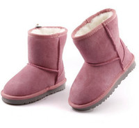 baby faux fur boots - 2016 Hot sell New Real Australia Top quality Kid Boys girls children baby warm snow boots Teenage Students Snow Winter boots