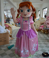 Cheap Sophia Princess Mascot Costume Sofia the First Cartoon Costume Halloween Party Dress for children and adult Factory Direct Sale