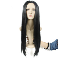 Wholesale Hot Fashion Celebrity Rihanna Silky Hairstyle Wig Long Soft Smooth Straight Black Hair Lace Front Wigs for Black Women Machine Made wigs