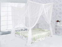 Wholesale Hot New Corner Post Bed Canopy Mosquito Net Full Queen King Size Netting Bedding White B463