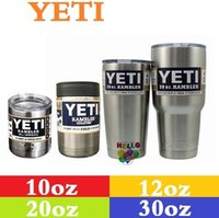 Wholesale 2016 Yeti oz Cups Cooler YETI Rambler Tumbler Travel Vehicle Beer Mug Double Wall Bilayer Vacuum Insulated Stainless Steel