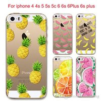 bananas fruit - Hot Fruit Pineapple Lemon Banana Soft Silicon Transparent Case Cover For Apple iPhone S S SE C S Plus sPlus Coque