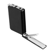Wholesale Automatic Flame Oil Flint Lighter Windproof Metal Smoking Popup Ejection Cig Auto Case Box Holder