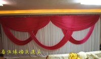 Wholesale 3m m wedding backdrop Party Curtain Celebration Stage Performance Background Satin Drape wall valance