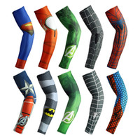 Wholesale Cycling outdoors fishing is prevented bask in ice silk sleeves basketball running male ice arm sleeves guard spiderman arm sleevelets