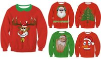 america ladies clothing - 2016 Europe America Autumn winter pullover sweaters loose plus size unisex Christmas clothes ladies fleeces M L XL five colors for your choo