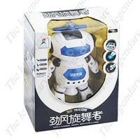 Wholesale Creative Rotation Electric Robot Dancing Toy Kids Gift with Light Music