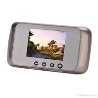 Wholesale New Camera Mp quot LCD Monitoring Motion Detection Door bell Video Door Phone Smart Digital Peephone Viewer Visual Doorbell