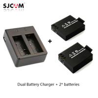 Wholesale 2pcs original SJCAM Sj4000 battery Sj5000 battery Dual Battery Charger for SJCAM SJ4000 Series Camera Accessories