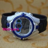 Unisex al watch - Ohsen New Color Funny BackLight Black Rubber Mens Women Digital Multifunction AL Stop Sport Watch Watches Blue