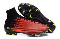 Wholesale 2016 High Quality Cleats Soccer Shoes Men boots botas Mercurial Superfly V FG ACC Bangfei waterproof football shoes Size