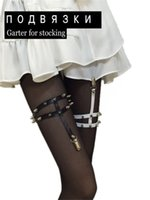 belt two rings - Harajuku Two Lines Plus Size Garter Belt Sexy Fashion Punk Rivet Leg Ring Handmade Harness Gifts For Women Decoration
