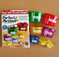 Wholesale preservation box Perfect Portions Portion Control Containers Food Storage Easy Way To Lose Weight Using Portion hot sell