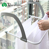 bathroom towel radiators - Outdoor Folding Rack For Clothes Towel Dryer Rack Hanger Shelf Drying Storage Radiator Metal Hook Large Clip Hot ButiHome