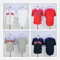 best red sox - Plain Boston Red Sox Cool Base Blank Baseball Jerseys with No name no number Best Embroidery Stitched White Red Grey Blue Cheap