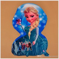 Wholesale Hot Sale Frozen Cartoon Aluminum Balloon Decoration Frozen Princess Queen Anna Elsa Balloon for Kids Party cartoom helium ballons