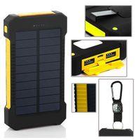 2016 Dual USB солнечной батареи Зарядные устройства большой емкости 8000mAh Портативный солнечной энергии панели зарядное устройство Power Bank