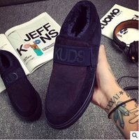 Wholesale Winter new men casual shoes a pedal male lazy shoes and cloth to keep warm cotton shoes men s shoes