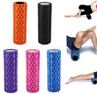 yoga equipment - 5 Colors Yoga Fitness Equipment Eva Foam Roller Blocks Pilates Fitness Gym Exercises Physio Massage Roller Yoga Block