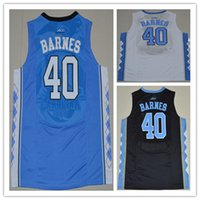 Wholesale 2016 North Carolina Tar Heels Mens NCAA College Basketball Jerseys Harrison Barnes Black Blue White Men Sports Jersey