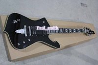 beautiful body shape - solid body Best selling Electric I Guitar top quality excellent beautiful shape bright black gold headcase custom shop