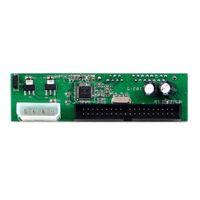 PATA IDE A SATA Convertidor Tarjeta Adaptador PlugPlay 7 + 15 Pin 3.5 / 2.5 SATA HDD DVD