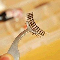 Wholesale False Fake Eyelashes clip stainless steel Multifunctional Auxiliary Clip Tweezers Eye Lash eyelash curler Beauty Makeup Tool