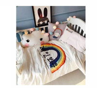 Wholesale South Korea ins bed is tasted High quality but naked sleep bath cotton stick cotton cloth embroidered cartoon children times