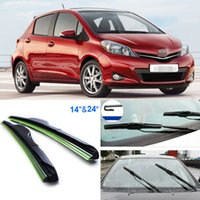 Wholesale 2pcs quot quot front windscreen windshield wiper blades Soft Rubber WindShield Wiper Blade For Toyota Yaris