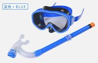 Wholesale Swimming Glasses Scuba Diving Masks For Boys and girls unisex adjustable Anti Fog Goggles Masks Dive children Diving Glasses Snorkeling mask