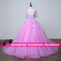ball gown dress patterns - 2016 Light Purple Tulle Quinceanera Dresses Princess Style Medieval Renaissance Queen Victorian Cosplay Ball Prom Gowns for Party Wear Sale