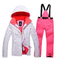 Wholesale new women s ski wear winter outdoor hiking snow jacket and pants ski ski sport waterproof and wind proof