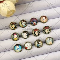 Wholesale NEW Gift mm Fashion Earrings Stud Earrings Glass cabochon earrings Cartoon stud earrings The princess series X016
