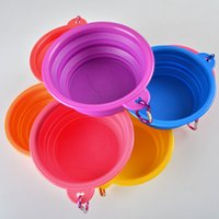 Wholesale Silicone Folding Pet Bowl With Climbing Knot Food Grade Portable Cat Dog Bowls Eco friendly Feeders