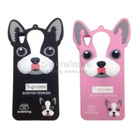 big head dogs - Iphone s Shatterproof Rubber Skin Back Cover Cartoon Case Big Head of Dog For Iphone s Plus ES S OPP Bag