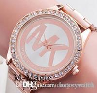 Wholesale Michael Kores MK M K style wristwatch watch Stainless Steel Watch Band bracelet top brand luxury replicas Jewelry for men women Smilecn MW02