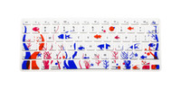 Wholesale For Macbook Pro Air Retina quot US English layout Silicone Flower Decal Rainbow Keyboard Cover Keypad Skin Protector