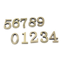 Wholesale Bronze Digits House Hotel Door Number Address Plate Number Size x30mm Self Adhesive Sticker Convinient Room Gate Alloy Number