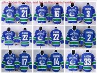 Wholesale NHL Stitched Vancouver Canucks Hockey Jerseys Ice Jersey McLEAN Matthias Raymond Bonino D SEDIN Bieksa white blue black