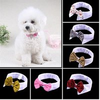 Wholesale Pet Supplies Dog Tie Wedding Accessories Dogs Bowtie Collar Holiday Decoration Christmas Grooming
