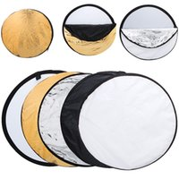 Wholesale 50pcs quot cm in Portable Collapsible Light Round Photography Reflector for Studio Multi Photo Disc