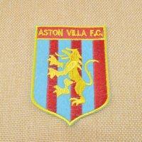 aston villa club - Retail Embroidery fabric patch w glue England League Football Team For Aston Villa mark English club Villa Crossd Drop shipping