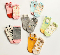Wholesale Newly Styles AB Ankle Socks Poke Mon Pikachu Short Socks Dog Cat Pig Cute Animal Cotton Socks Kids Women Socks