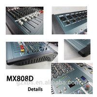 Wholesale Audio Mixer Console with USB Built in effect processor Audio Mixer channel mixer sound console v power supply