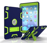 Wholesale Ipad pro mini cases waterproof Shockproof Rubber Hybrid Robot Protect Screen for Stand cover Heavy Duty for ipad air
