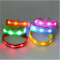 Wholesale Hot Sale Color LED light wristband luminous bracelets nocturnal band running security arm band fluorescence